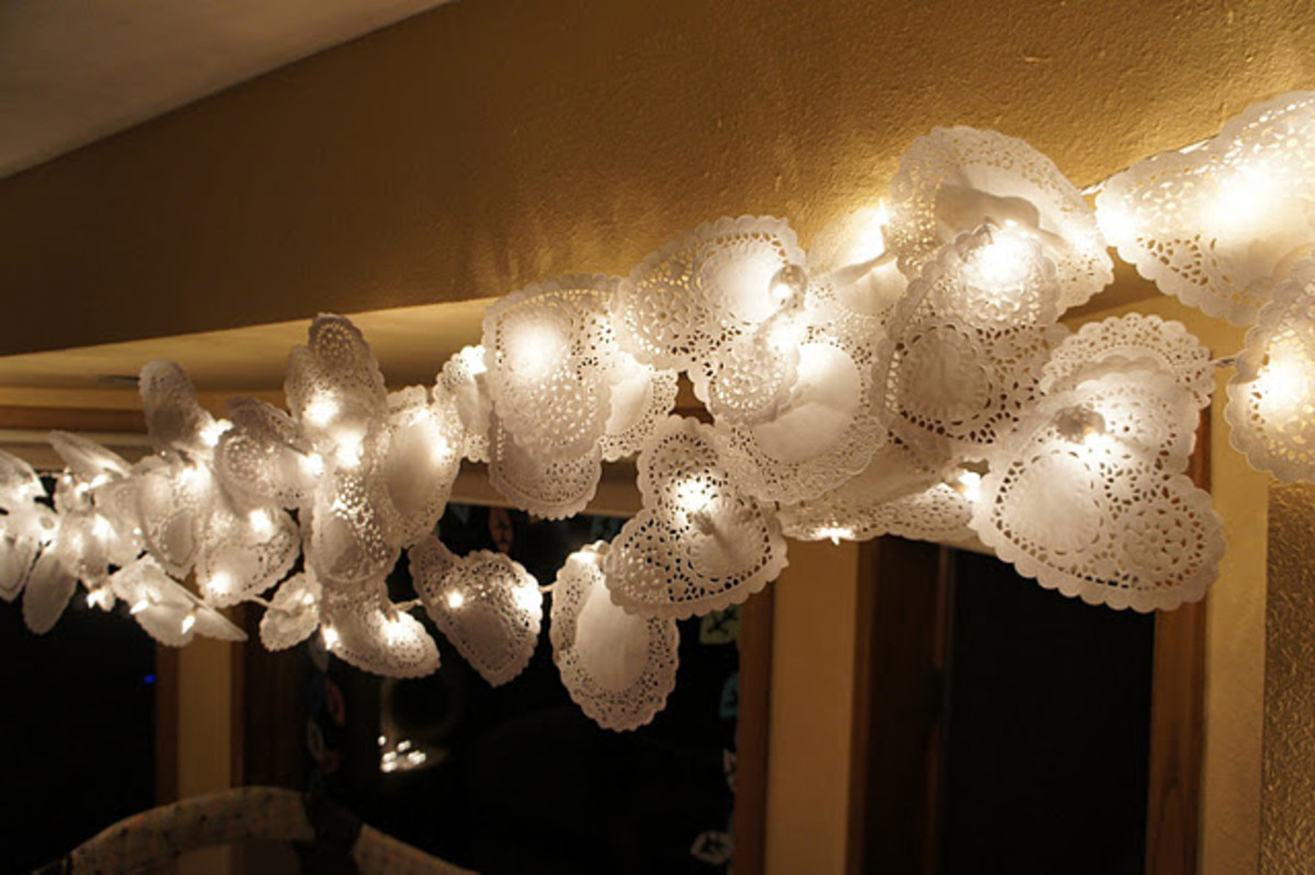 DIY Wedding String Lighting
