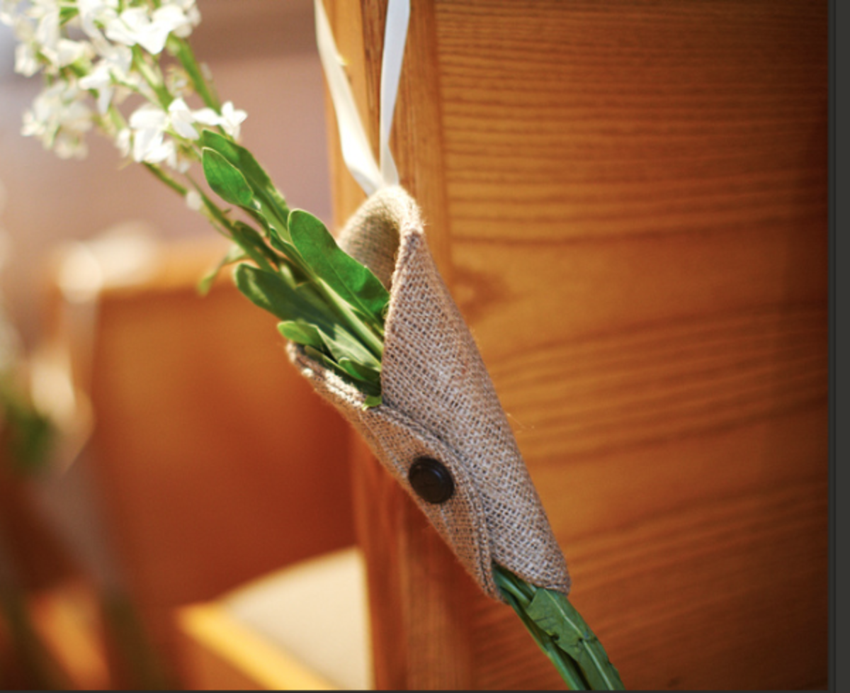 DIY Burlap Cones - Wedding Decorations