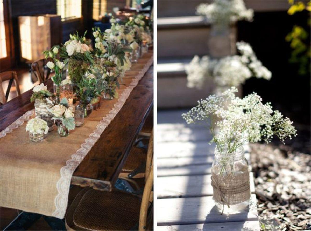 Easy Wedding Decorations Burlap DIY