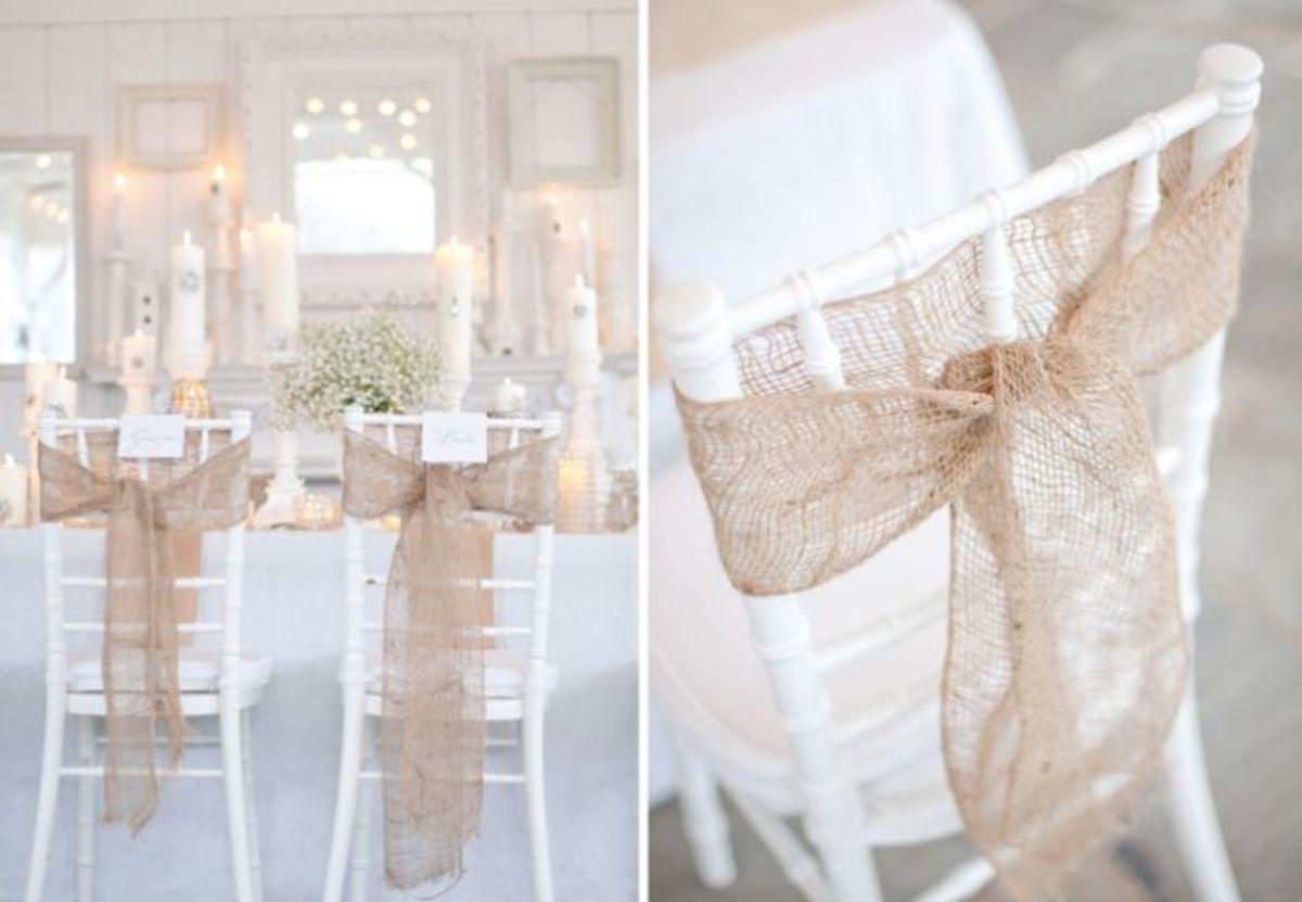 Wedding Chair Decorations DIY