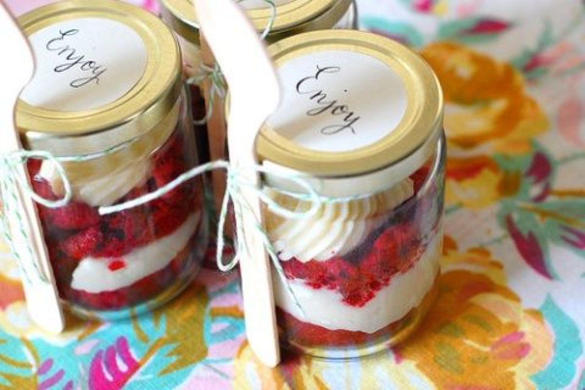 Red Velvet In A Jar Wedding Favors