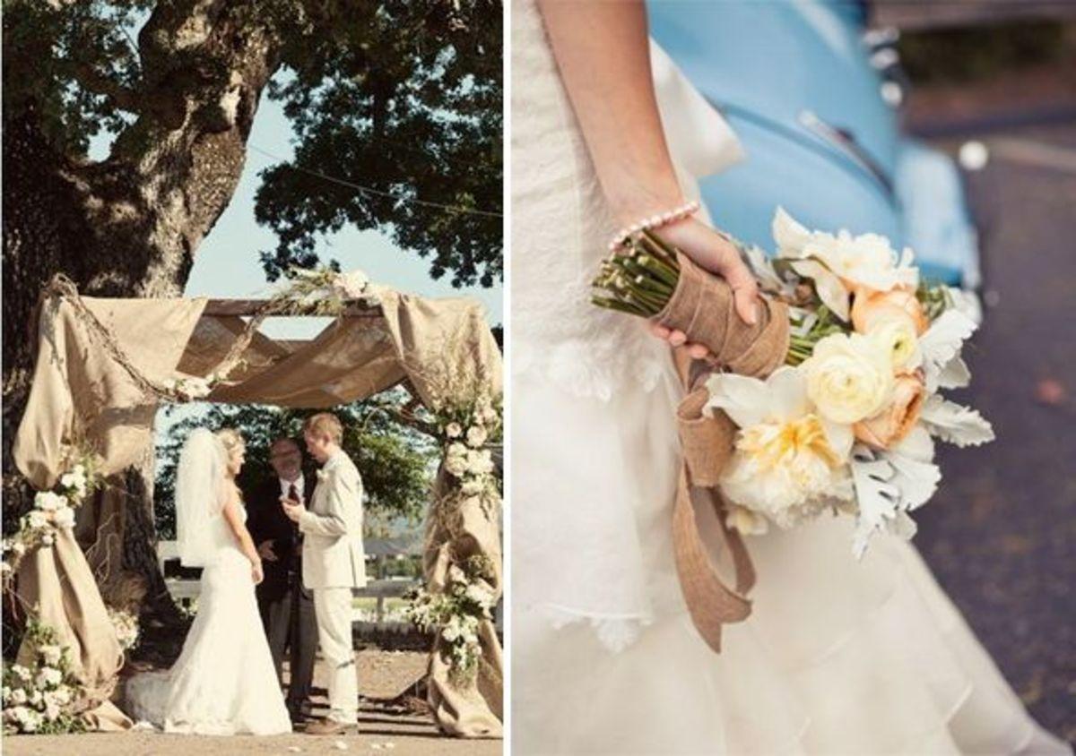 Easy DIY Burlap Wedding Decorations