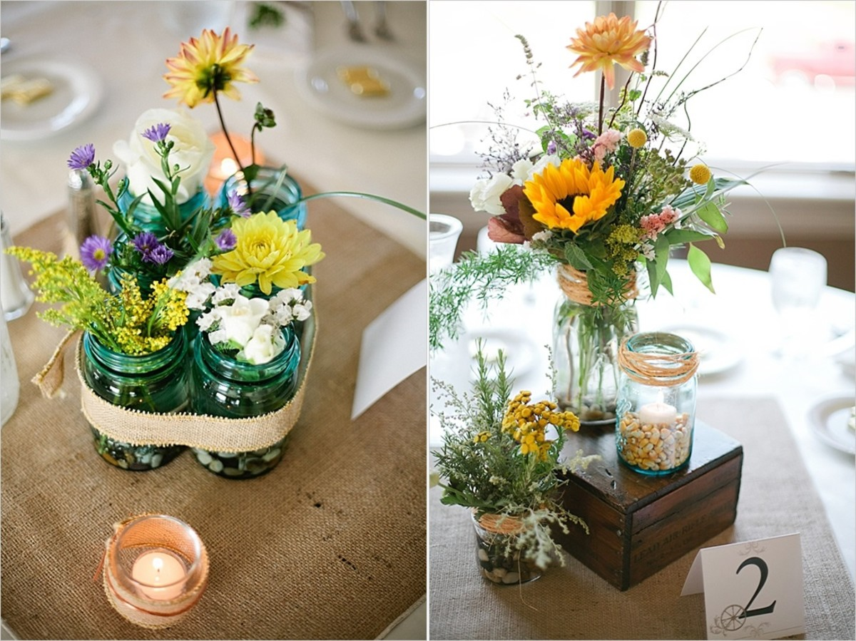 Easy DIY Wedding Centerpieces