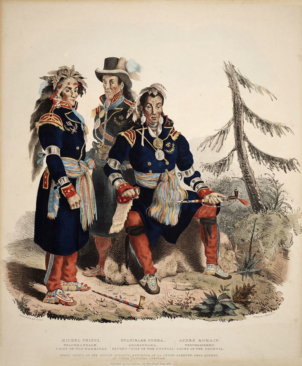 After their defeat by the Iroquois, many Wyandotte (Huron) fled to Quebec with the French.