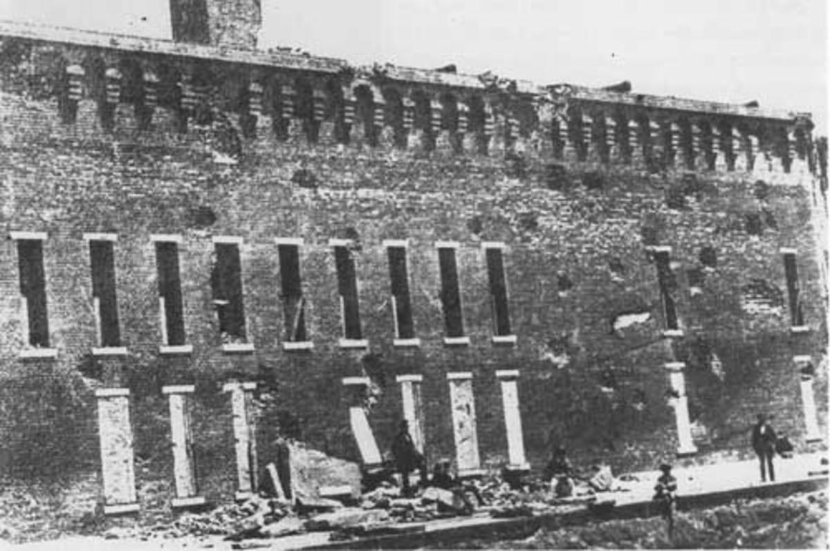 Post-bombardment damage 1