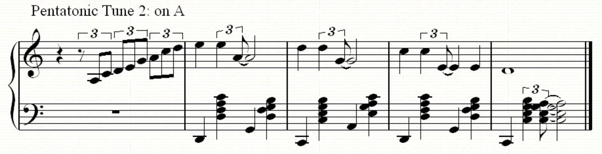 A sightly more complex tune using the same pentatonic scale but based around the note A