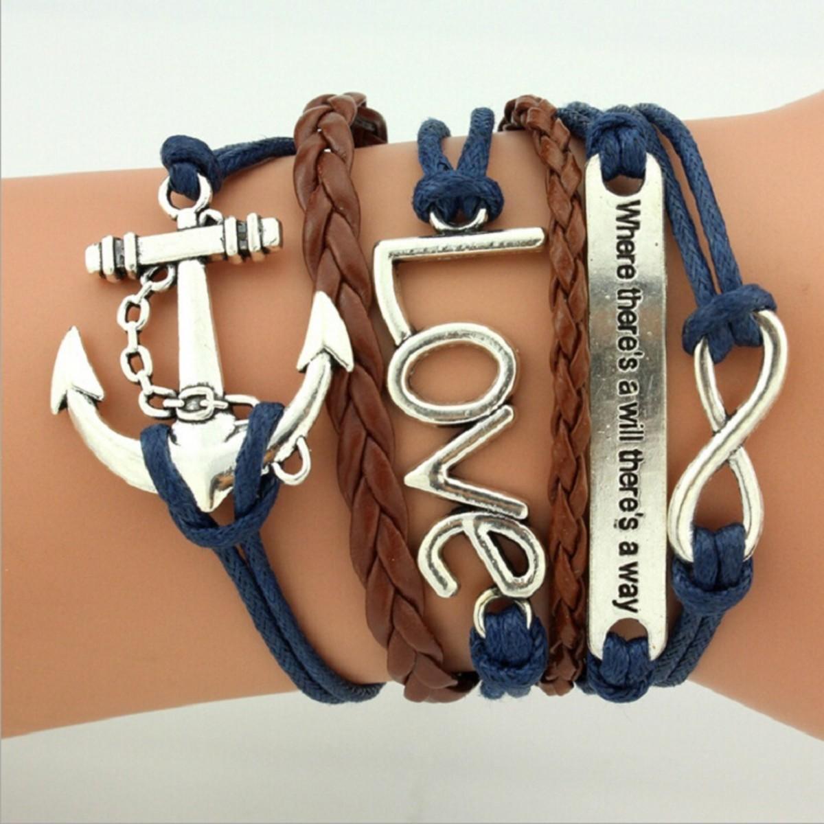 Multi-layer charm bracelets