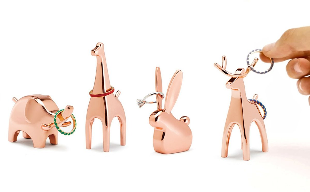 These fun and whimsical ring holder can double as decorative accessories for the home.