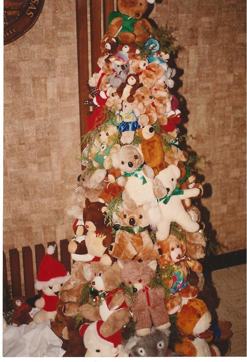 Here's what a teddy bear tree looks like.