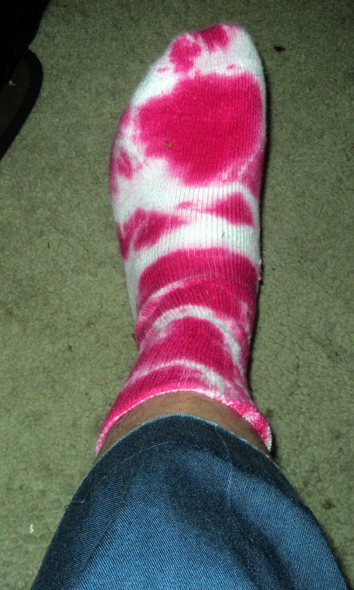 Tie Dye Socks are pretty cool! Great way for kids to earn money! Cheap, easy to do, and they come out looking awesome.