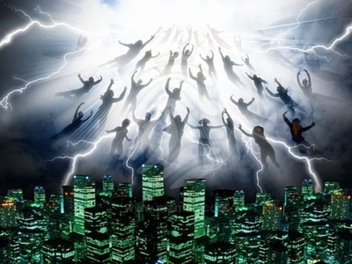 The rapture sounds much like the physical properties of evaporation...water dissipating into air, things disappearing. Does sound very Pisces-Aquarian