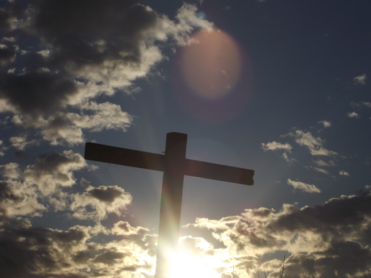 Christian Cross.  This picture was taken in Delaware Usa by Dwayne Elliott and Melody Wilson.  Copyright © All Rights Reserved