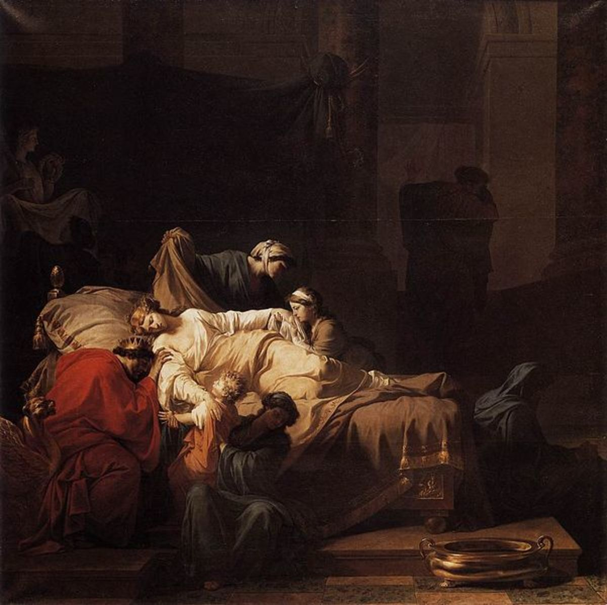 The Death of Alcestis by Jean-Francois-Pierre Peyron, 1785