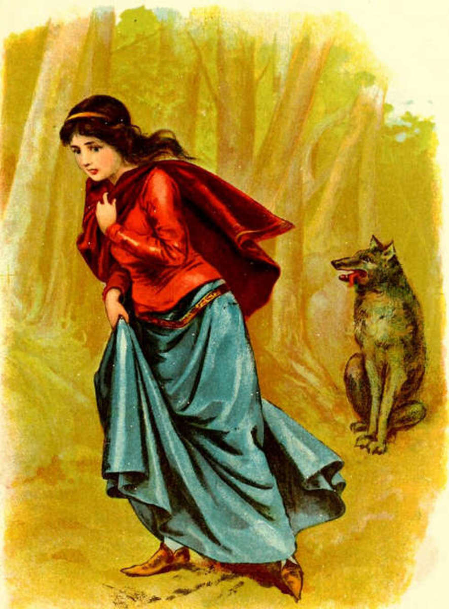 Who is the real victim in the story of Red Riding Hood?