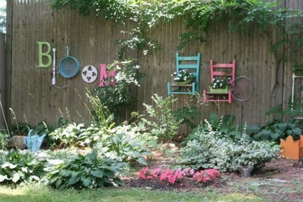 Make your garden beautiful and unusual! Re-purpose!