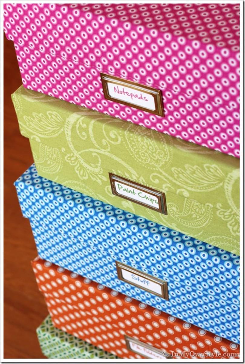 DIY Ideas-Make Your Own Decorative Storage Boxes