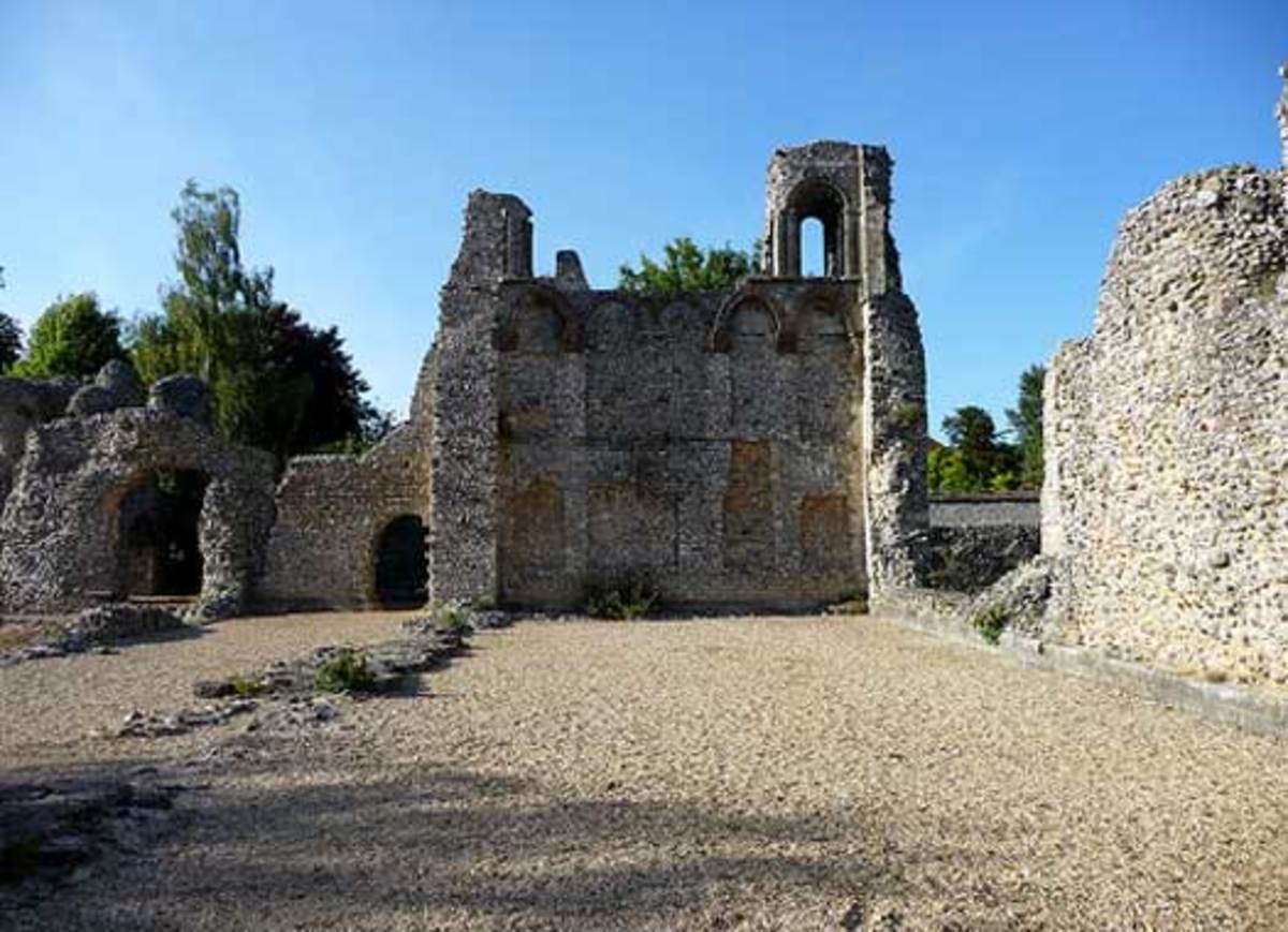 Ruins of the Roman city of Venta Belgarum originally settled by the Belgae.  Today, Winchester, England.