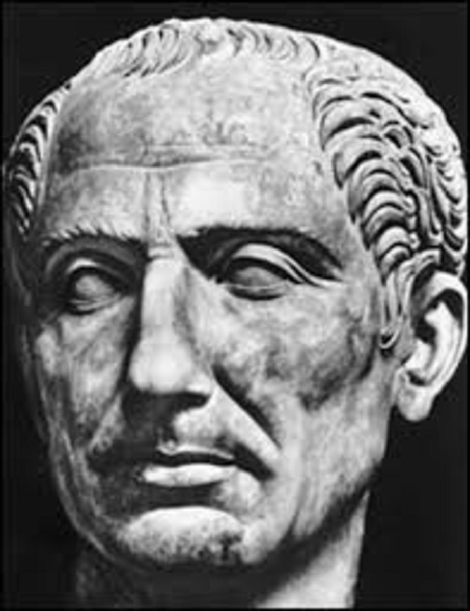 Head sculpture of Julius Caesar