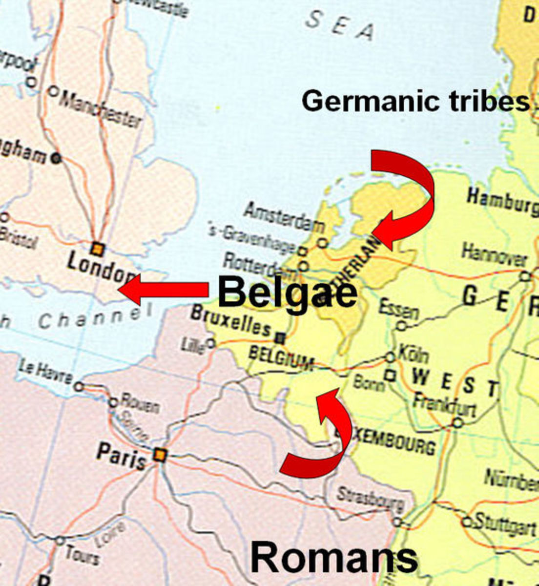 Anti-Roman factions of the Belgae flee to Britain.