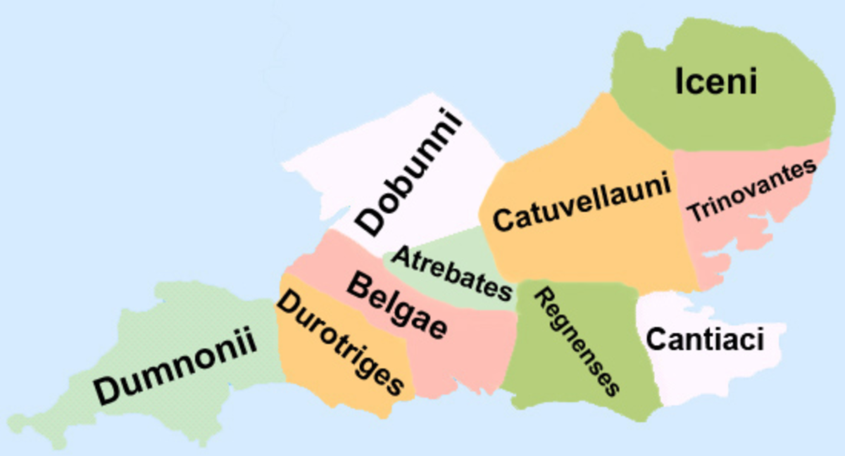 The Belgae tribes settle in southeastern Britain among the Brittonic Celts of today's Engand.