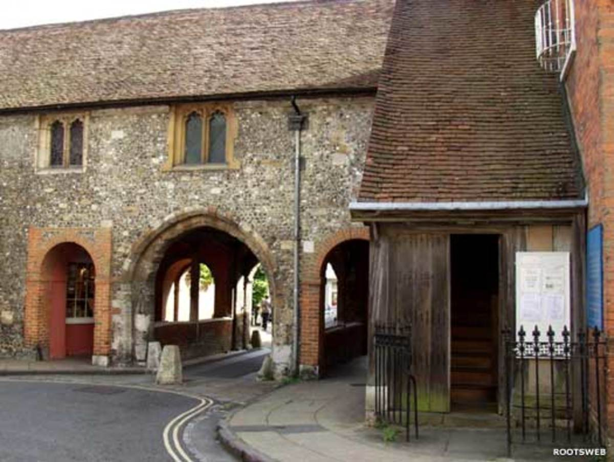 Winchester, England today.  The medieval King's Gate (south) in Winchester (Venta) was built over the sight of the Roman south gate around 1300-800 years after the original gate was blocked up.