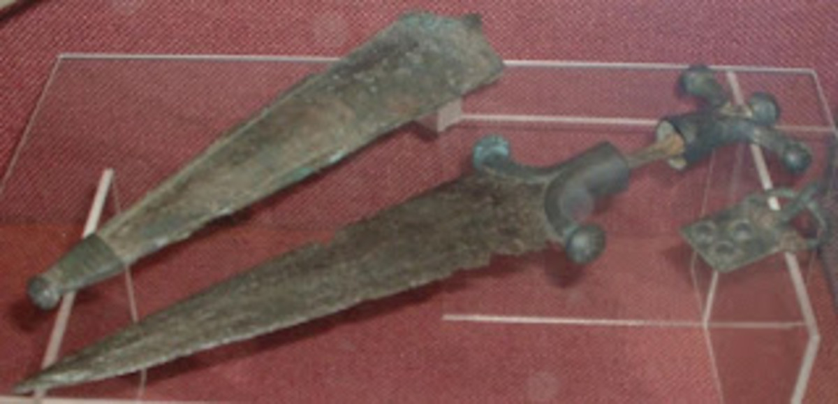Celtic dagger unearthed in archaeological dig in Belgium and believed to be of the Belgae\.