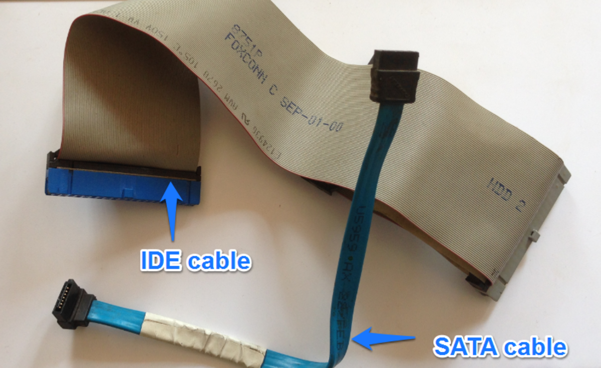 Assess the state of IDE and SATA data cables, depending on what is installed in your computer