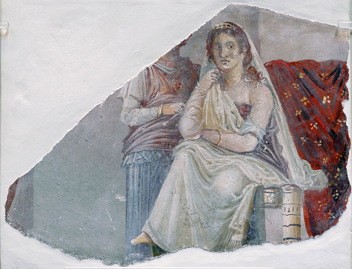 Phaedra and her Nurse from a Pompeian Fresco