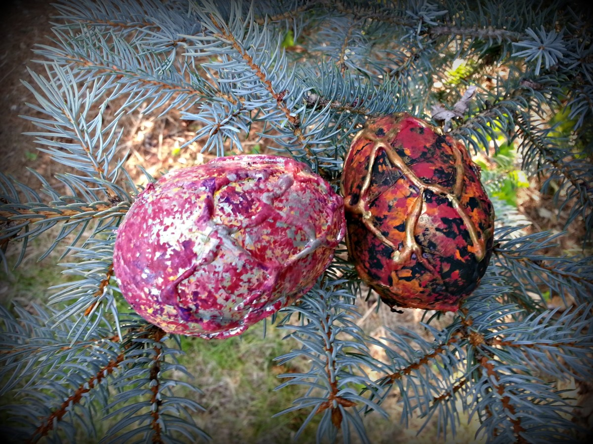 Dragon eggs found in the tree...they look ready to hatch!