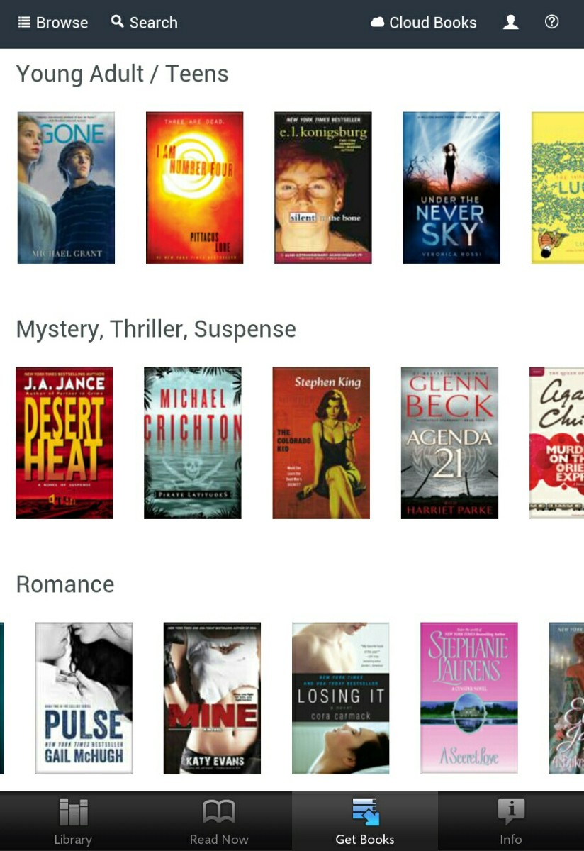 My Nook's Screenshot of Entitle Books