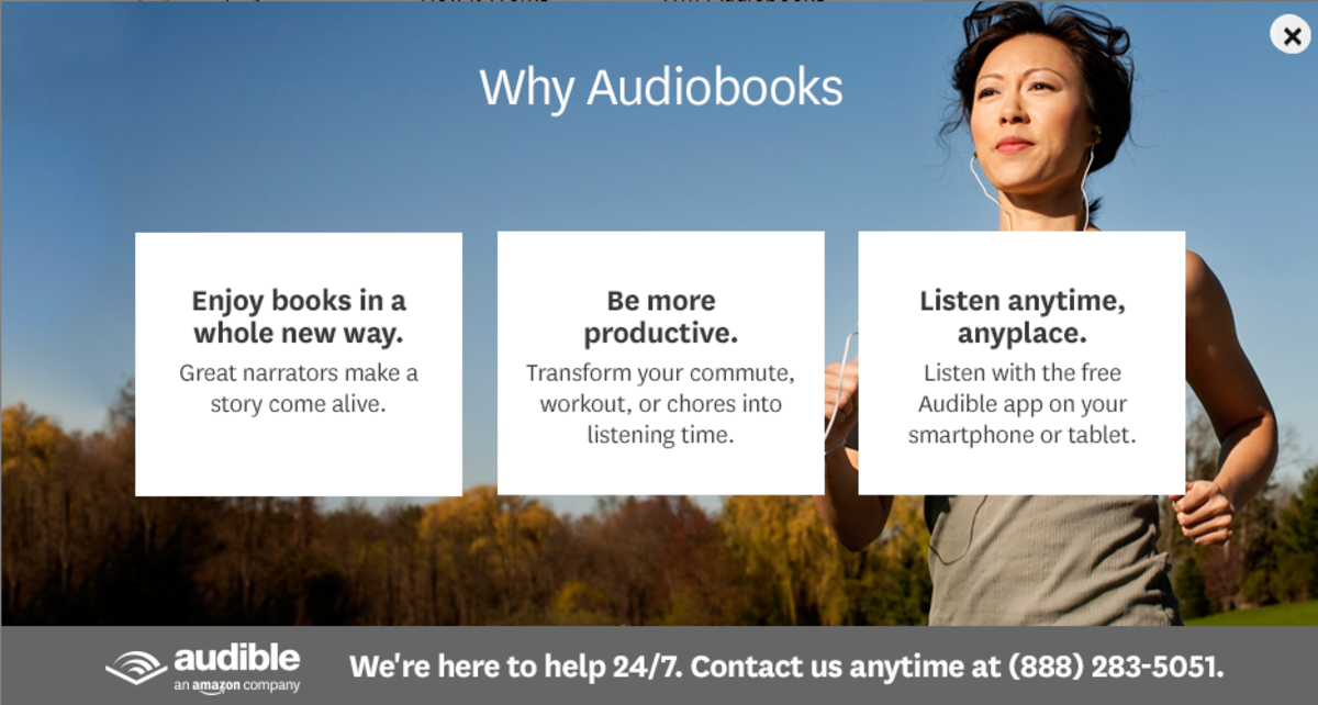 Screenshot from Audible