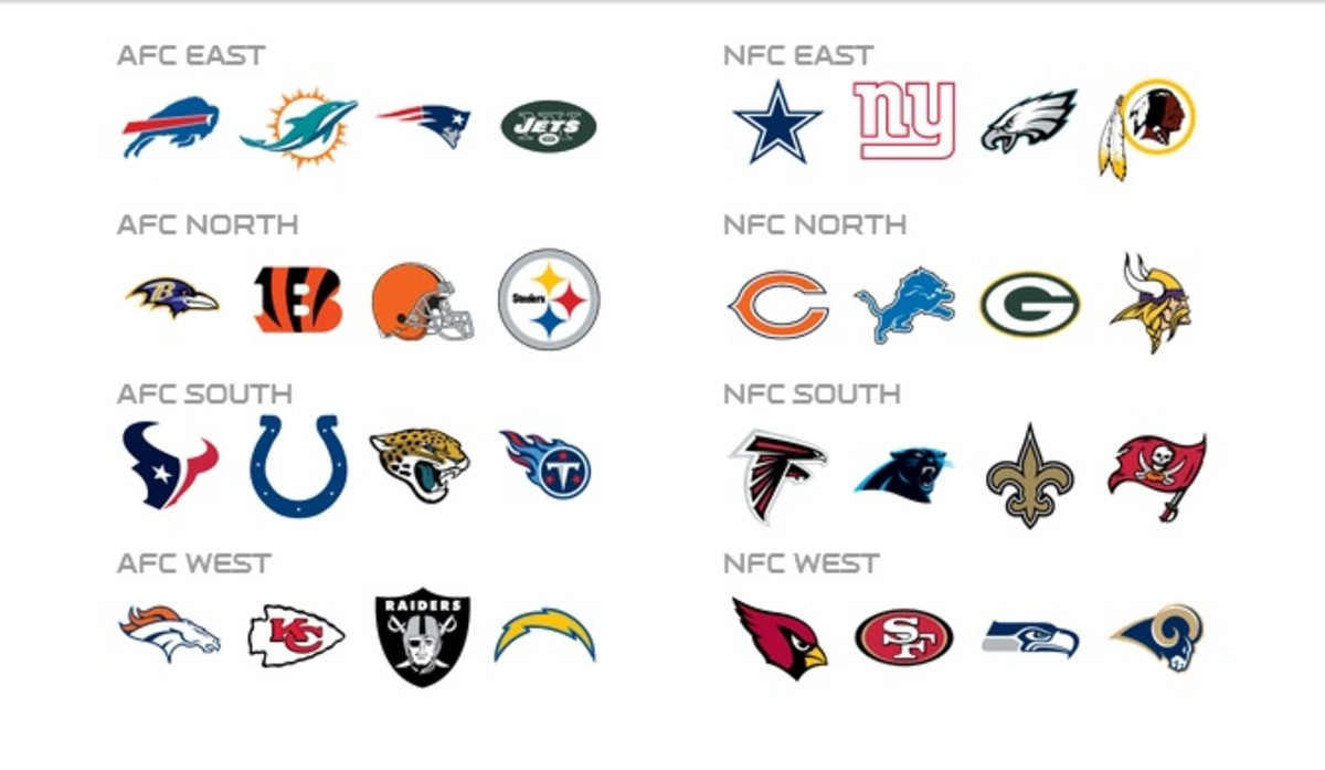 Here a list of varies NFL with different region just incase you don't have a favorite team