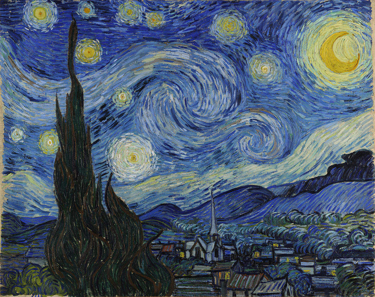 Van Gogh most likely found the starry night sky an awesome sight.
