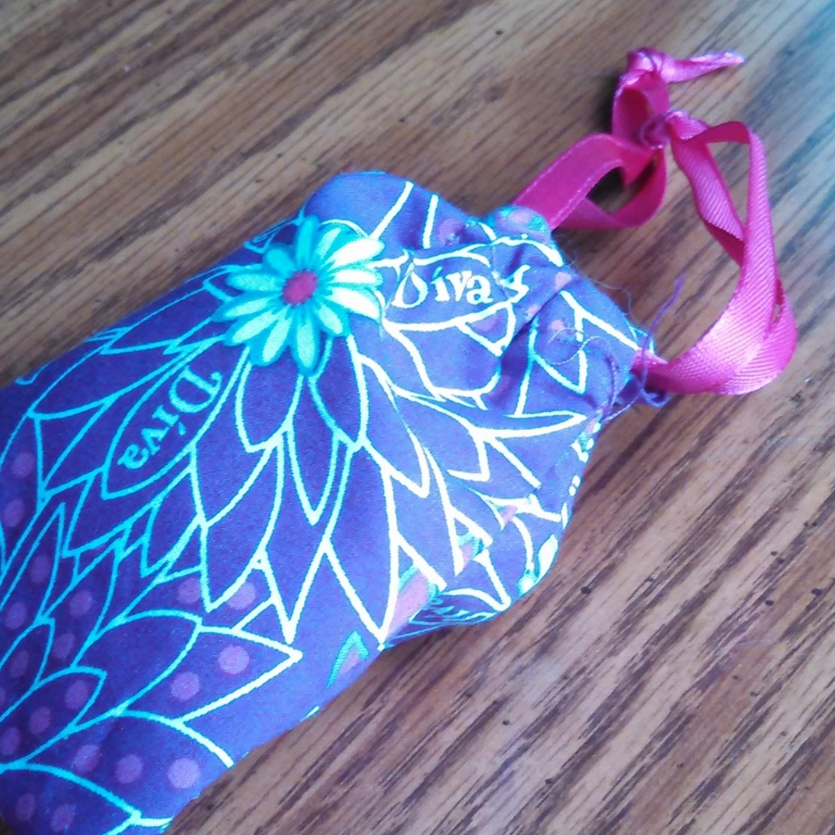 My menstrual cup came with a discreet bag to protect it between uses and make it easy to take along when I travel.