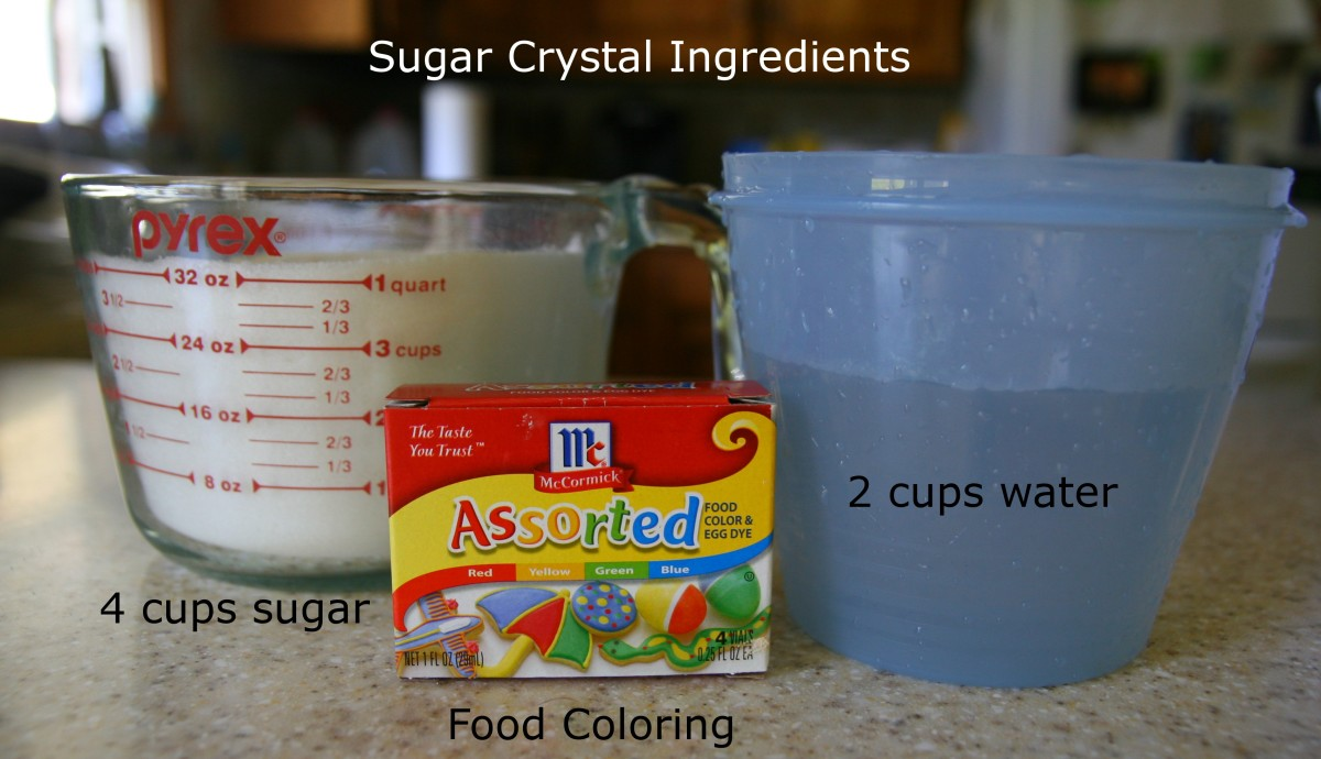 Make an easy recipe for sugar crystals by creating a super-saturated sugar solution.