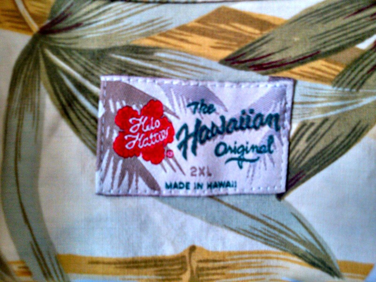 The label tells you all you need to know, Made in Hawaii, and the best. Hilo Hattie Hawaiian Shirt ~ Bamboo Tropical Flowers