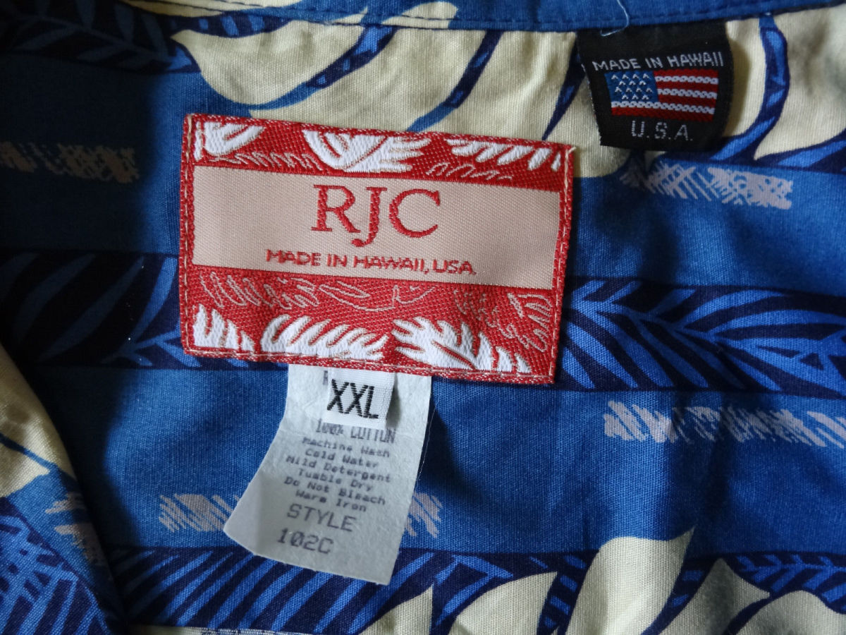 The RJC label said it all for this Mens Hawaiian Aloha Shirt. Made in the USA and made in Hawaii of 100% Cotton.
