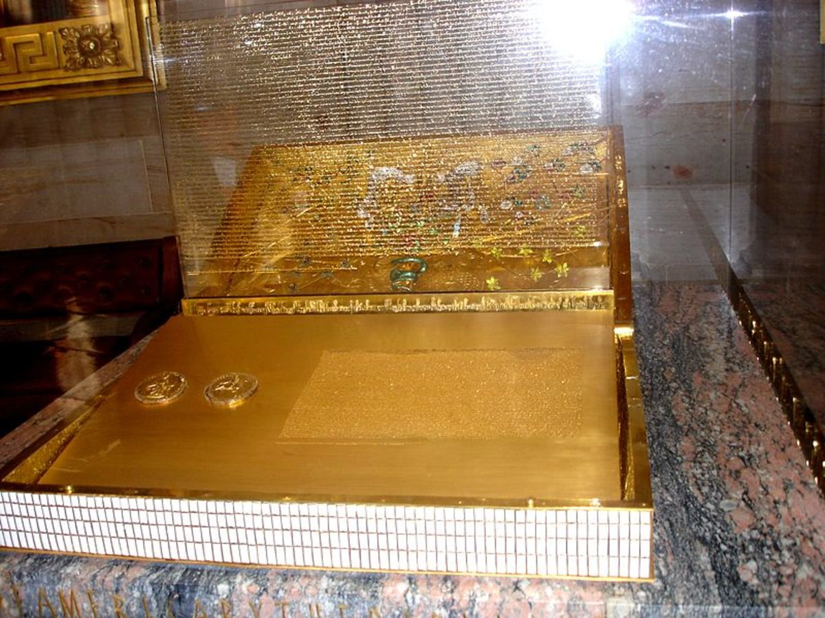 This replica of the Magna Carta is in the rotunda of the United States Capitol in Washington.