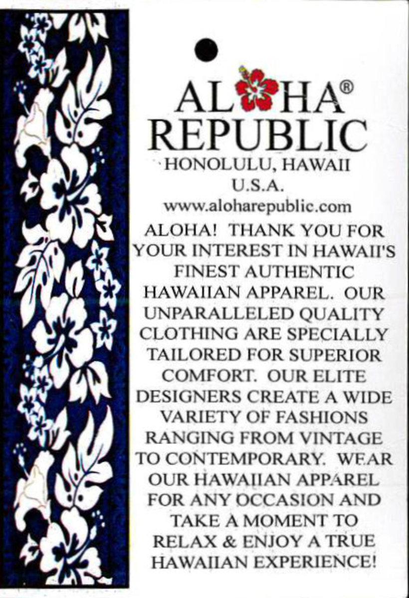 Aloha Republic Honolulu Hawaii ... the tag said it all :)