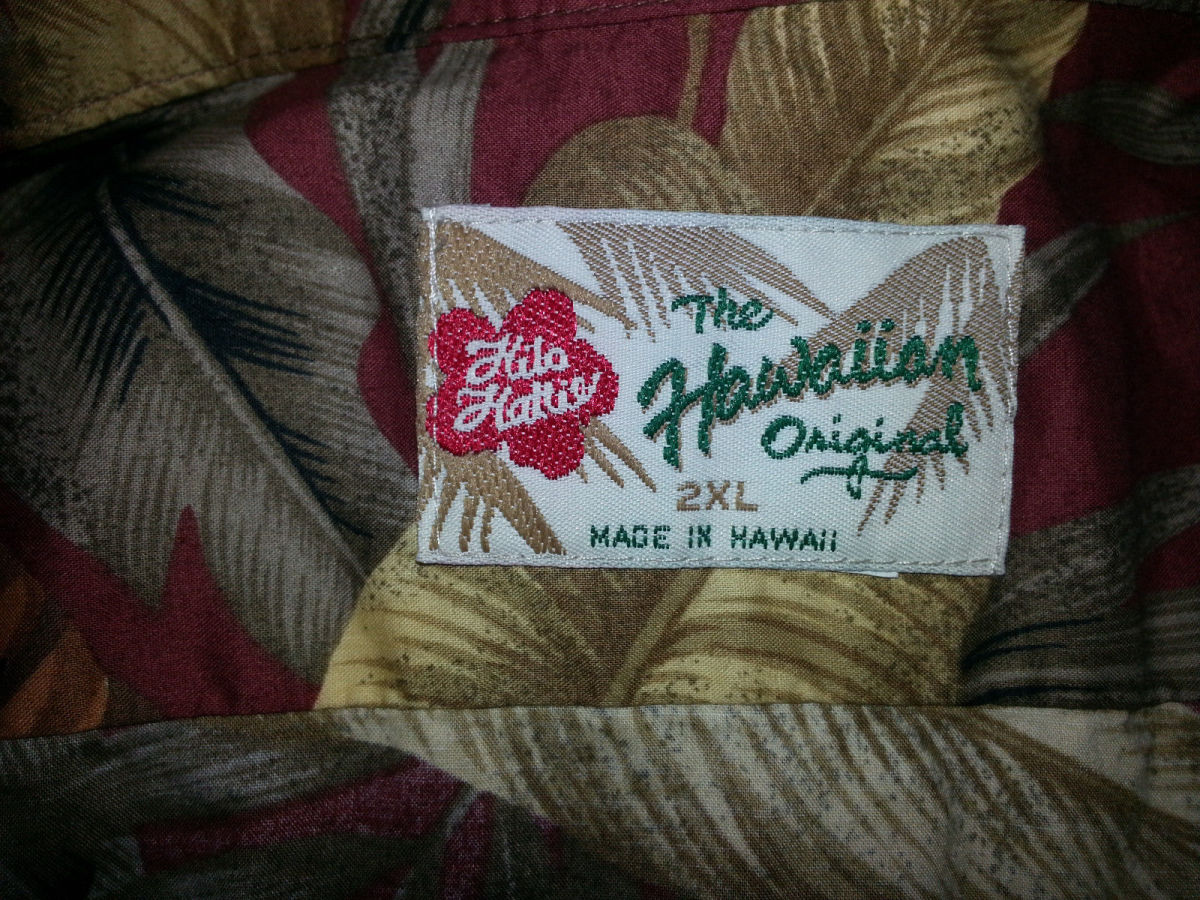 When the tag said Hilo Hattie, you know you are getting a shirt made the Hawaiian way, with superb stitching and made of the finest cotton and dyes money can buy.