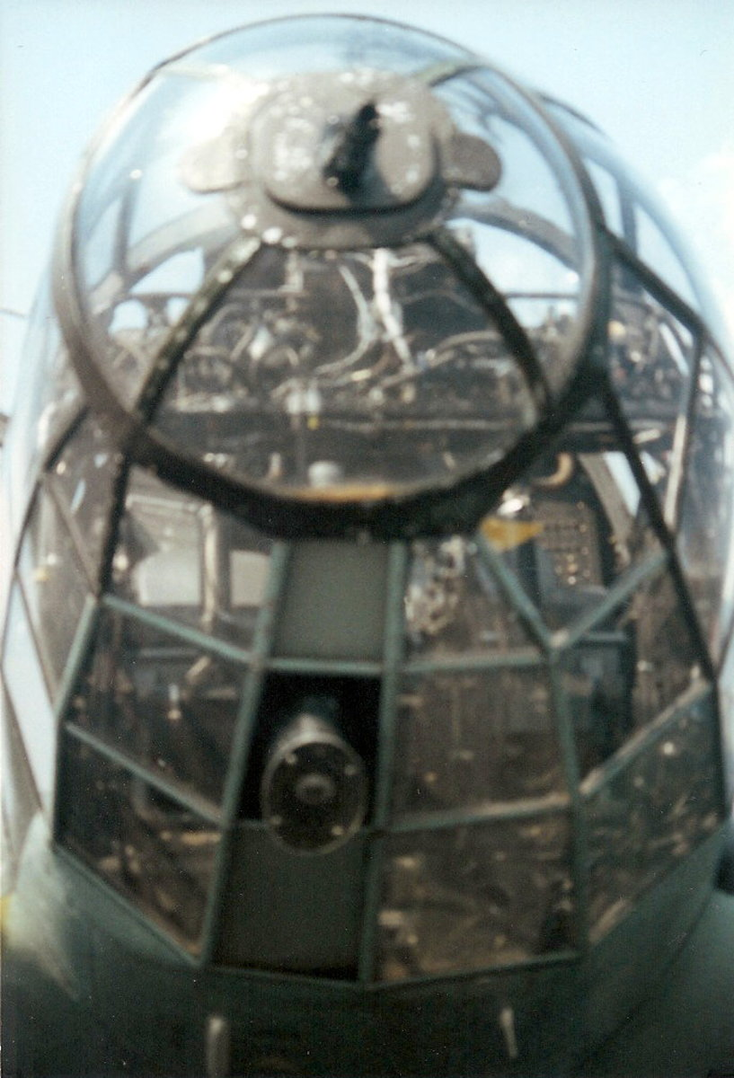 The nose of the He-111 at Leesburg, VA, August 2000.