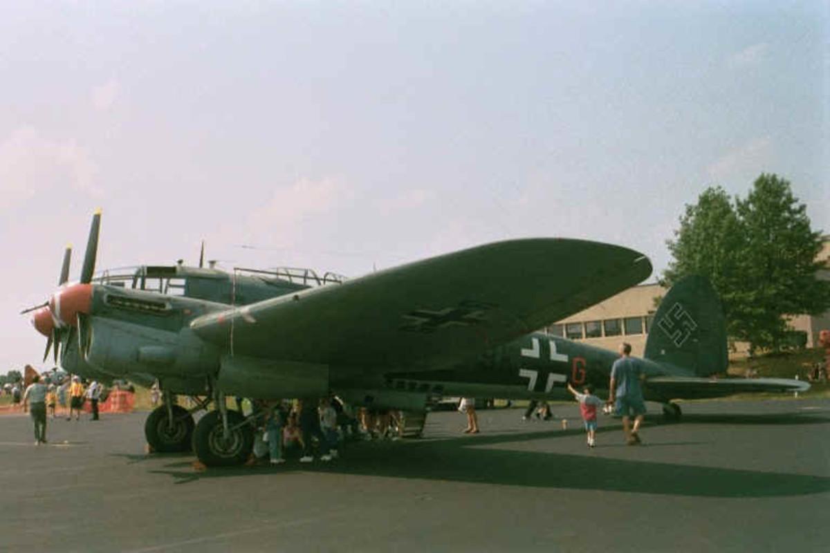 He-111 at Leesburg Municipal Airport, VA, August 2000
