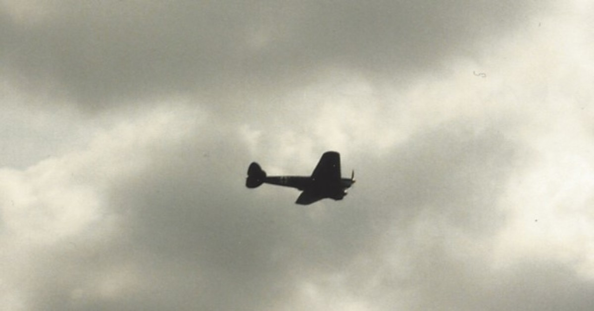 The He 111 performing at Frederick, MD.
