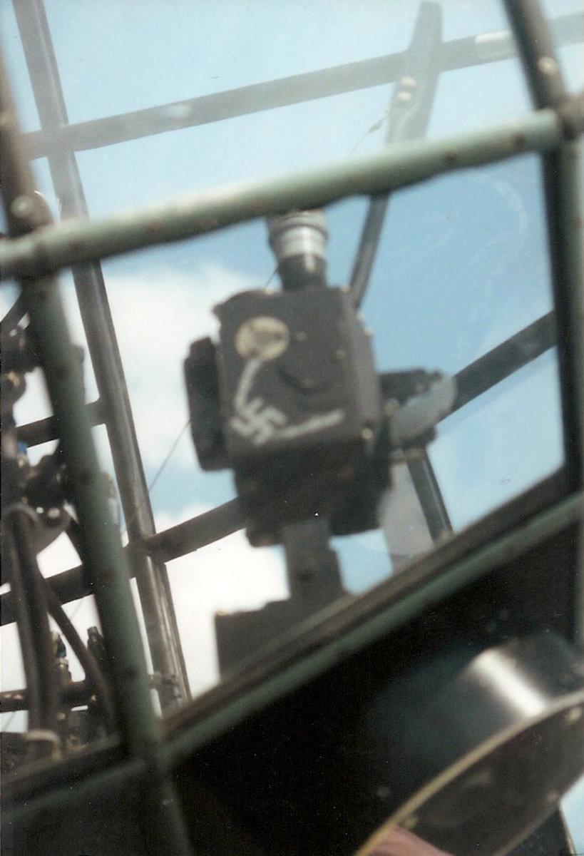 The He-111's bomb site.  Leesburg, VA, August 2000.