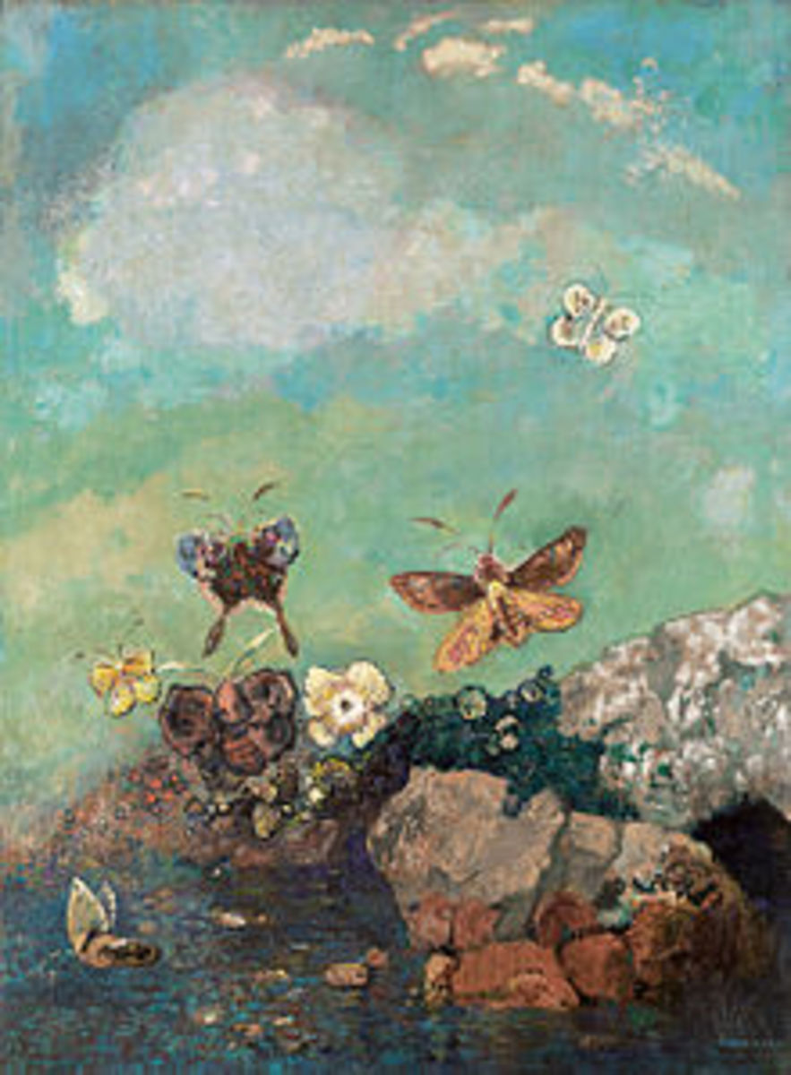 Butterflies, around 1910 (Museum of Modern Art) Odilon Redon