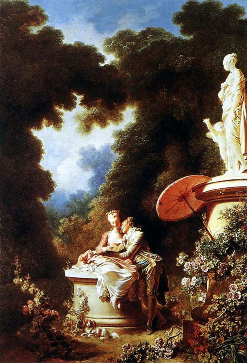 Rococo art was characterised by lighter, often jocular themes; common characteristics included pale, creamy colours, florid decorations and a penchant for bucolic landscapes. Paintings were more ornate than their Baroque counterpart, and usually grac