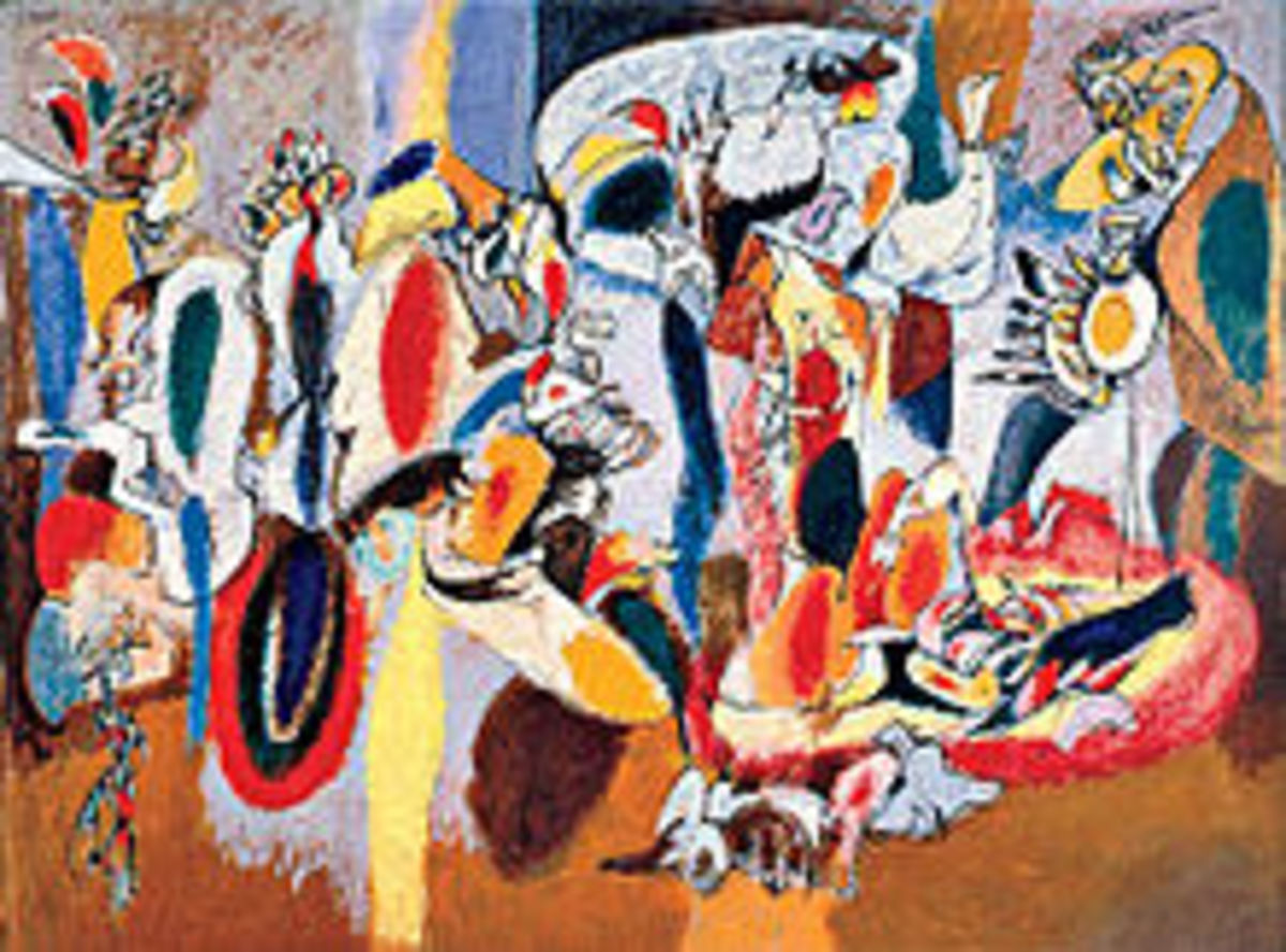 Abstract Expressionism linked Eastern and Western aesthetic concepts. Where essence meets form. Arshile Gorkey was  influential in this 20th century movement.