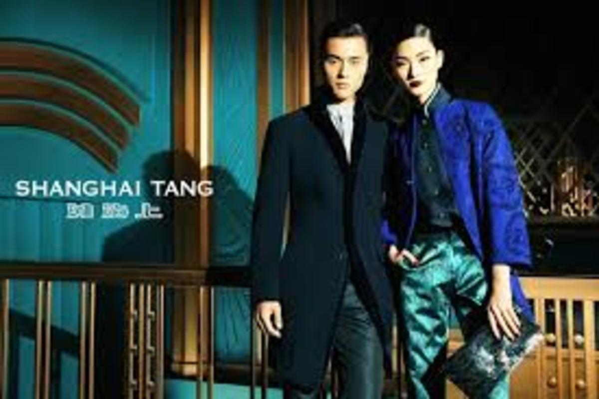Shanghai Tang a Chinese brand that incorporates Eastern traditional wear with Western design concepts.