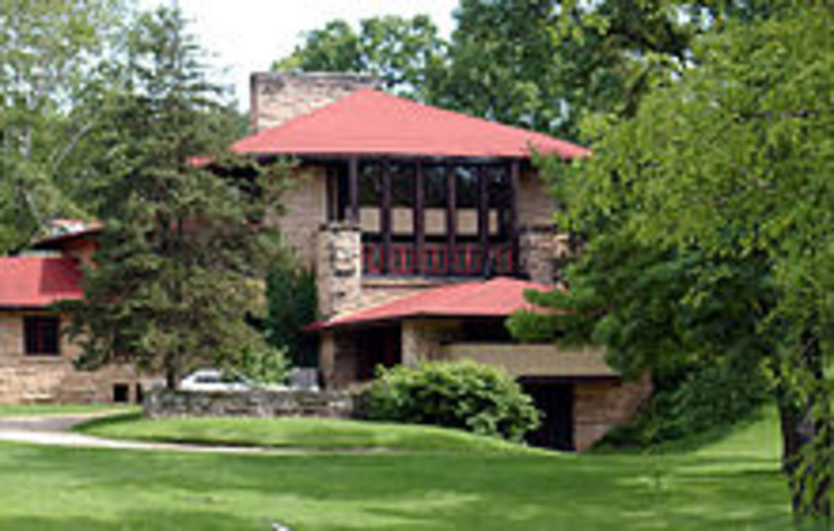 Frank Loyd Wright. Hillside Home School, 1902, Taliesin, Spring Green, Wisconsin