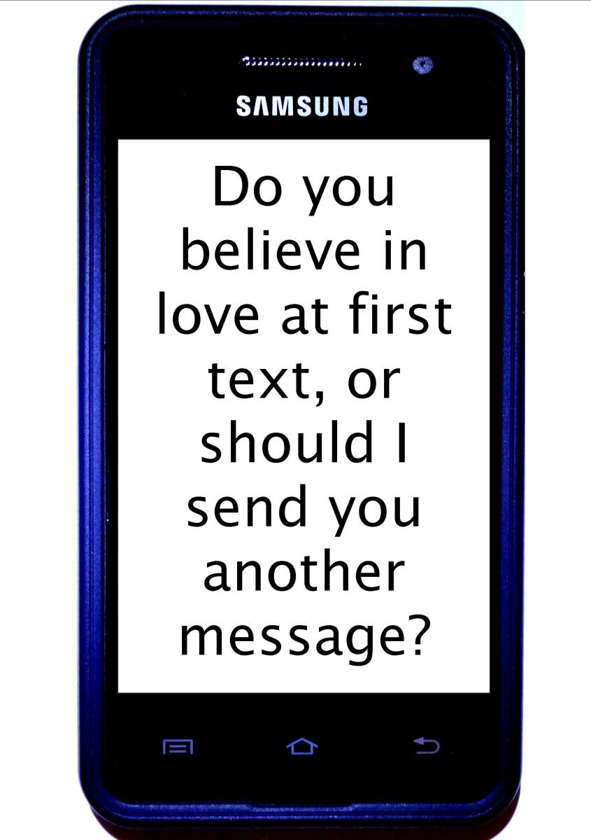 flirting signs texting messages without love